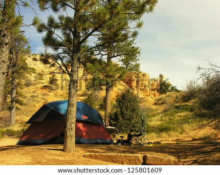 Sunset campground, Bryce Canyon National Park, Utah, USA - stock photo
