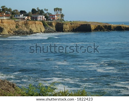 Sunset Cliffs postcard shot - stock photo