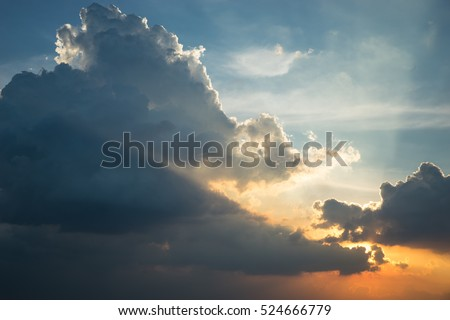 Sunset cloud as abstract texture