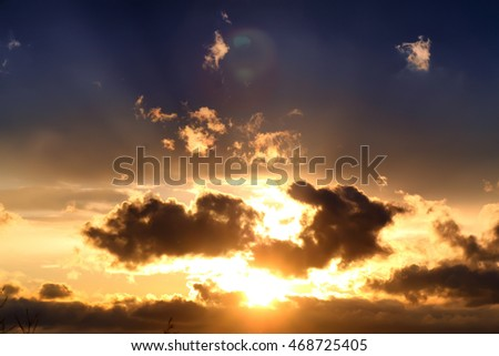 sunset cloud dark