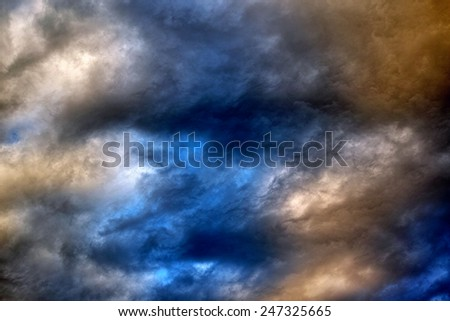 Sunset clouds sky background