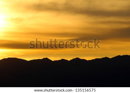 Sunset, Death Valley National Park, California, USA - stock photo