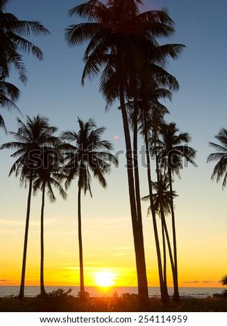 Sunset Divine Idyllic Wallpaper  - stock photo