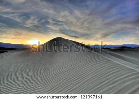 Sunset Dunes - stock photo