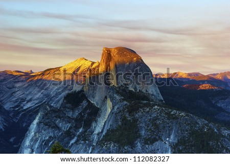 Sunset from Glacier Point, Yosemite National Park
