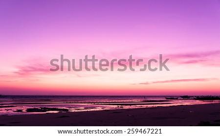 Sunset Glow Fiery Backdrop  - stock photo