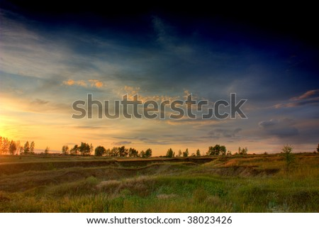 Sunset (HDR) - stock photo