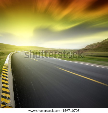 Sunset Highway - stock photo