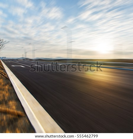 Sunset  highway background
