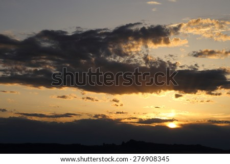 Sunset in Arches National Park, Moab, Utah - stock photo