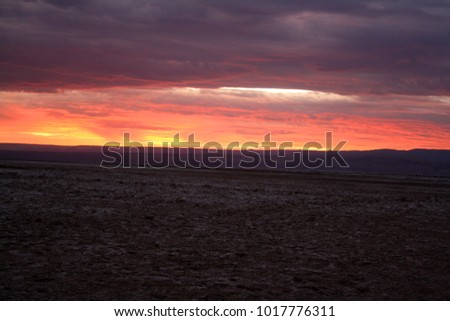 Sunset in Atacama Desert, Chile.