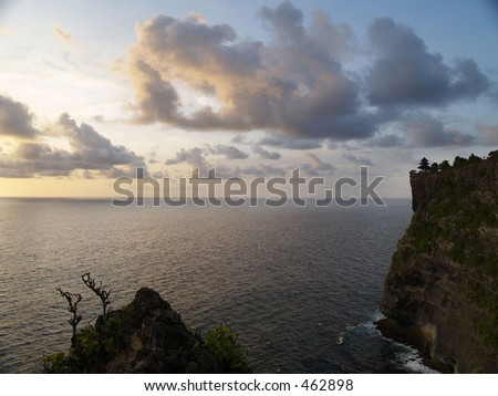 Sunset in Bali - stock photo