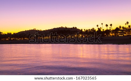 Sunset in Barbara, California, USA - North America