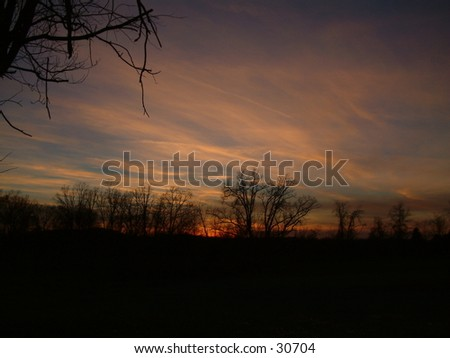 Sunset in Berea Kentucky - stock photo