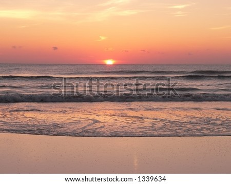 Sunset in Daytona Beach - stock photo