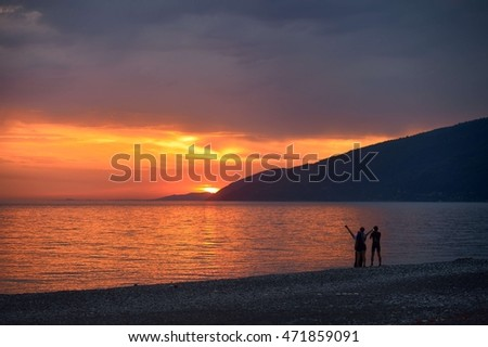 Sunset in gagra
