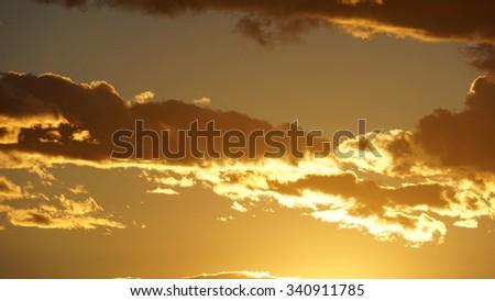 Sunset in Las Vegas - stock photo