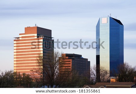 Sunset in Lexington, Kentucky, USA. - stock photo