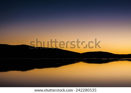 Sunset in Morocco - stock photo