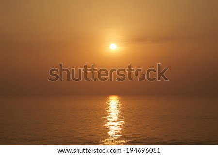 sunset in Okinawa prefecture - stock photo