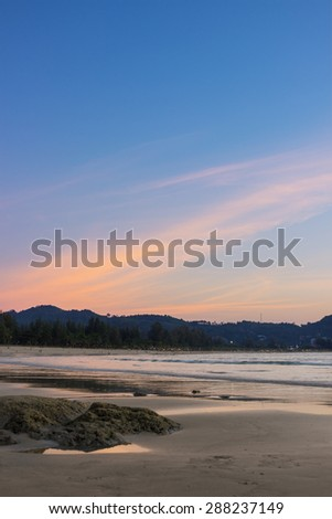 Sunset in Phuket, Thailand. Photographed in February - stock photo