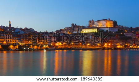 Sunset in Porto from the Duoro river