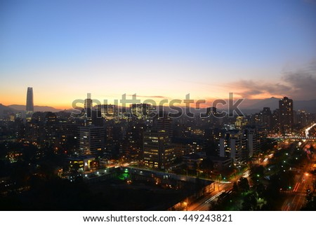 Sunset in Santiago Chile