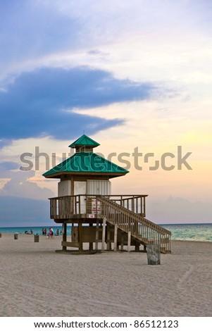 sunset in Sunny Islands, Miami - stock photo