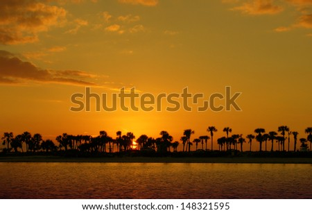 Sunset in Tarpon Sprints, Florida - stock photo