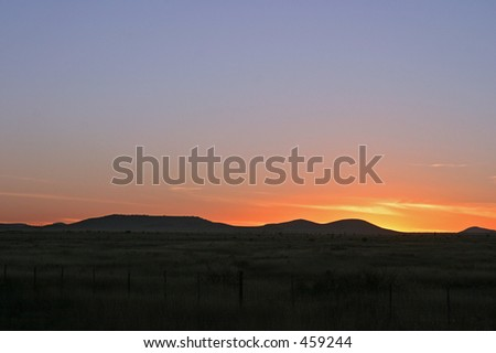 Sunset in Texas - stock photo