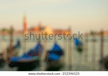 Sunset in Venice, Italy. Bokeh background - stock photo