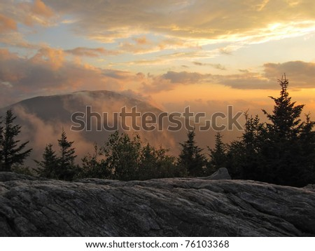 Sunset in Vermont - stock photo