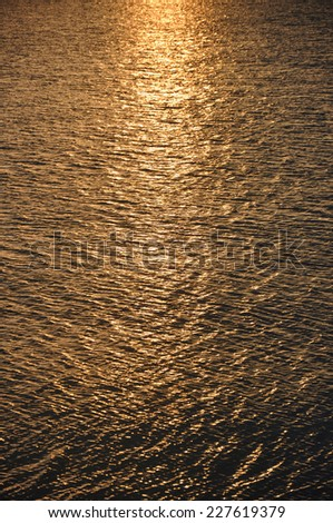 Sunset in water - stock photo