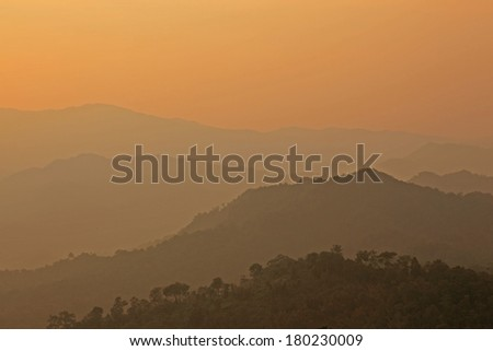 Sunset landscape  - stock photo
