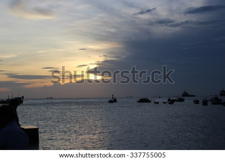 Sunset Landscape beautiful Background - Travel Beach Seaside