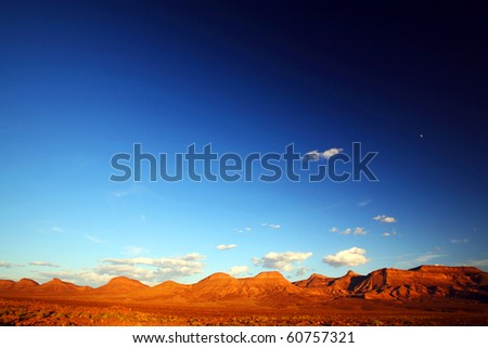 Sunset light in Atlas Mountains, Morocco, Africa