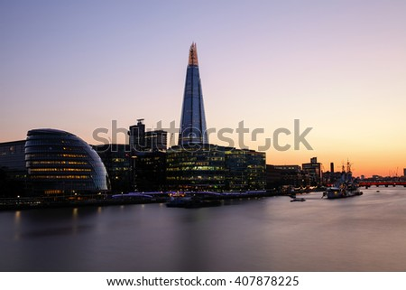 Sunset London