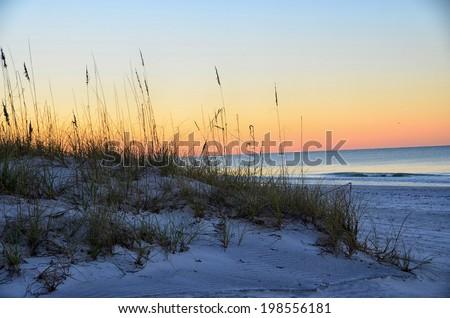 Sunset Madeira Beach, Forida - stock photo