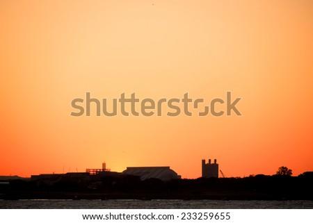 sunset moment - stock photo