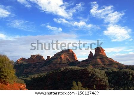 Sunset Near Sedona - Arizona - stock photo