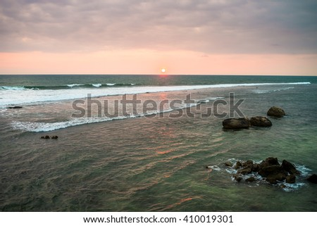 sunset, ocean, Galle - Sri Lanka