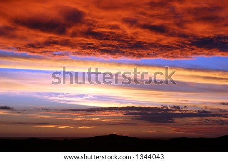Sunset of colors - stock photo