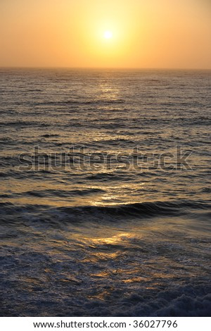 Sunset of the Pacific Ocean.