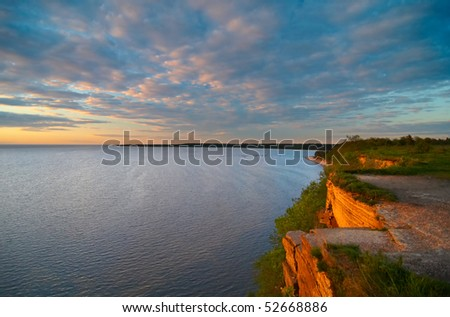 Sunset of the reefs - stock photo