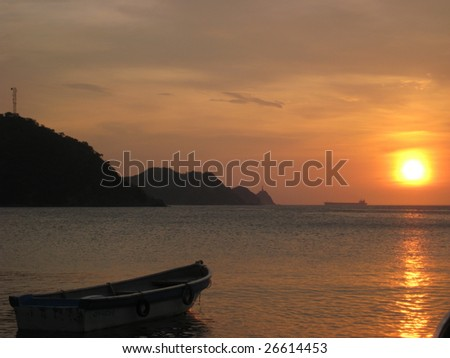 Sunset off the Caribbean Coast of Colombia, Taganga