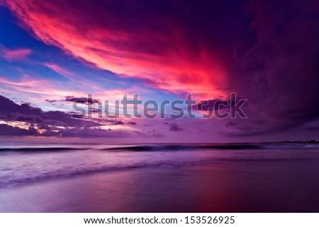 Sunset on Bali - stock photo