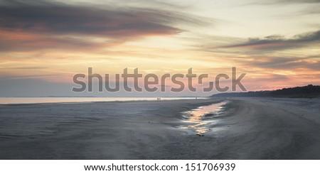 Sunset on Hilton Head Island. - stock photo