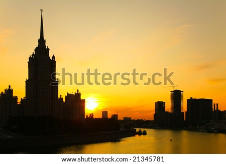 Sunset on Moscow-river