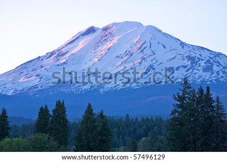 Sunset on Mount Adams, Washington
