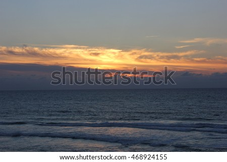 Sunset on the beach of S. Pedro Moel